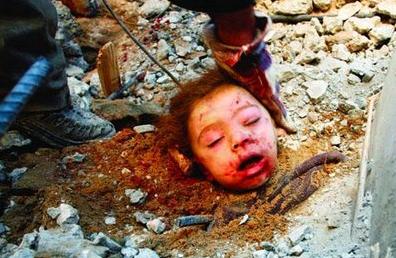 GazaChildInRubble